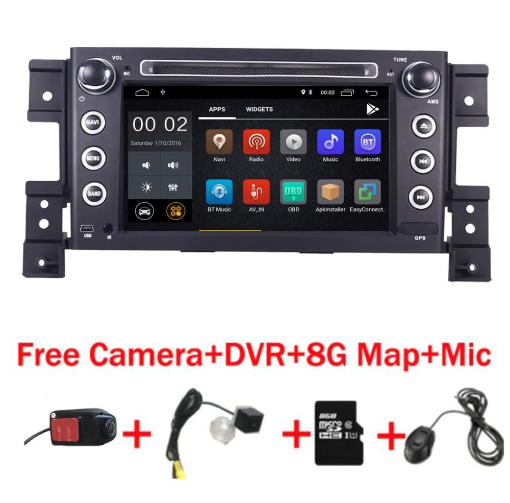 7 HD IPS Écran Tactile Android 8.1 Lecteur DVD de Voiture pour Suzuki Grand Vitara radio stéréo dvd Wifi 3g volant caméra DVR Carte