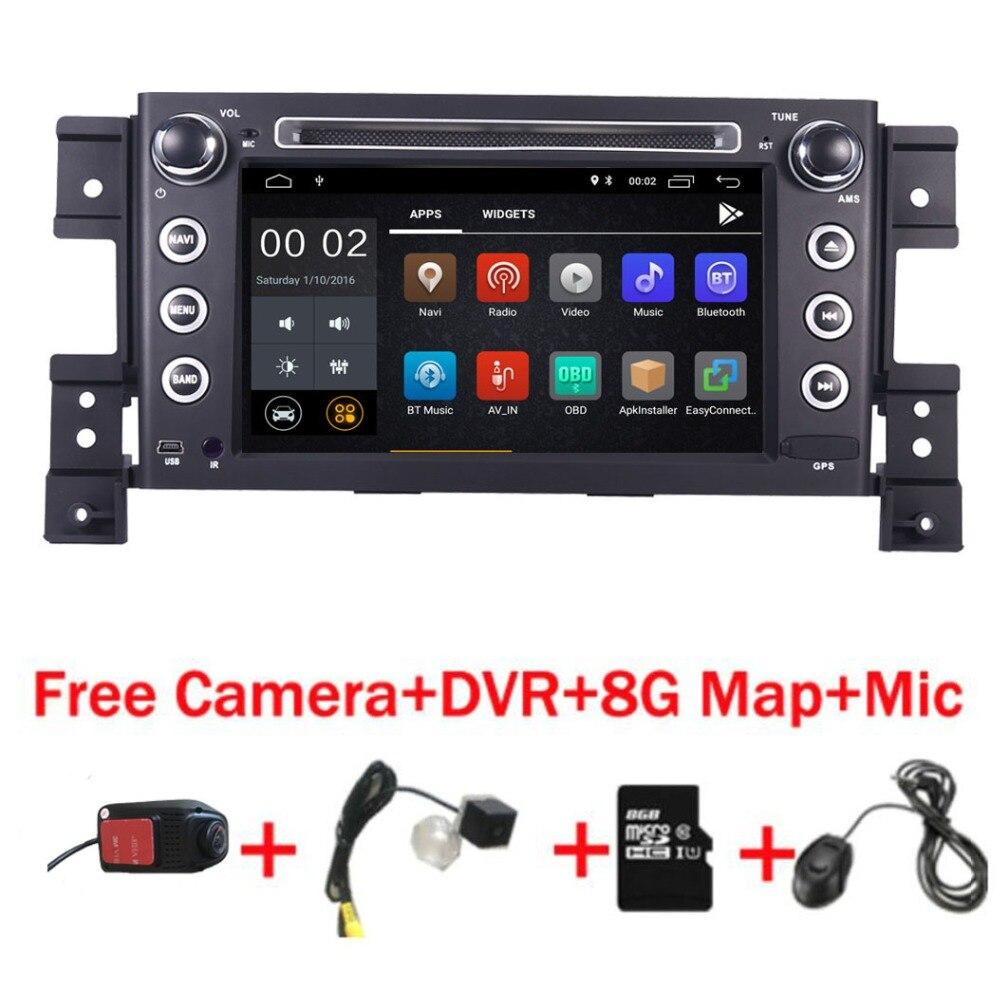 Lecteur DVD de voiture pour Suzuki Grand Vitara | Écran tactile HD IPS 7 pouces, Android 9.0, radio dvd stéréo, Wifi, volant de direction, caméra DVR carte