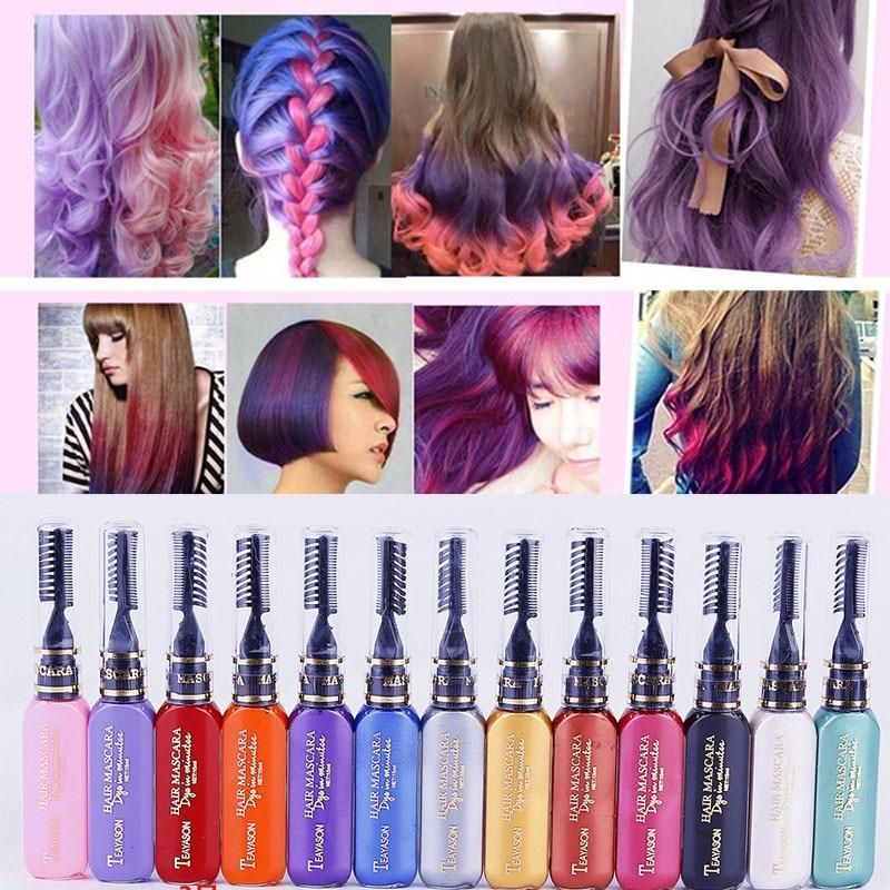 1pcs Unisex Hair Color Wax Mud Hair Dye Molding Hair Styling