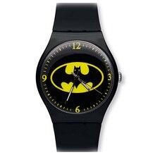 Бэтмен Дети Смотреть Мода Часы Кварцевые Наручные Часы Желе Часы Дети мальчики девочки Студенты Наручные Часы