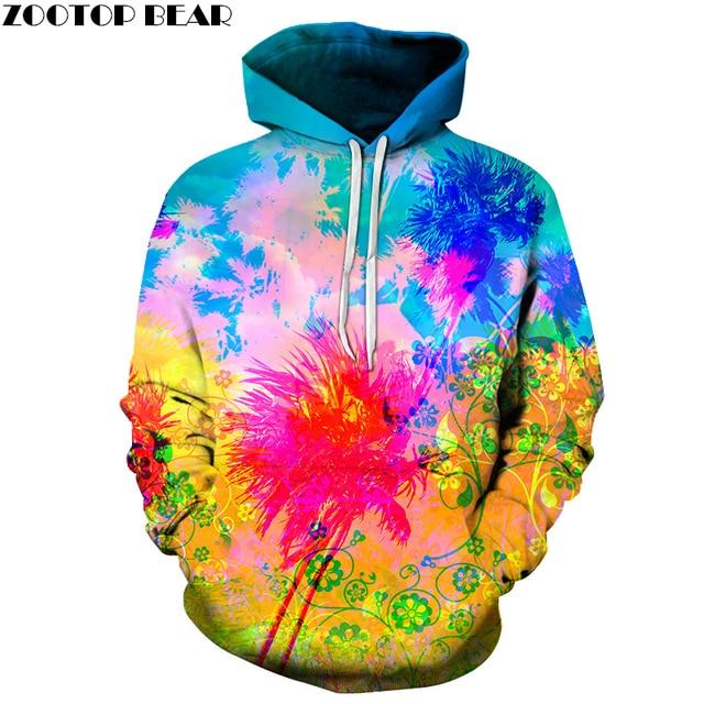 4fa58bc07e1 ... Colorful Splash paint 3D Sweatshirt Men Women Hoodies Hot Sale Quality  Pullover 6XL Autumn Tracksuits Fashion ...