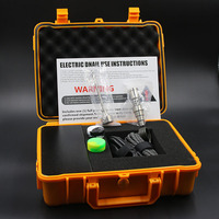 電気ネイルチタンネイルenailキット用水パイプコイルヒーターenails 10ミリメートル/16ミリメートル/20ミリメートル黒オレンジケース用峰ガラスbongs