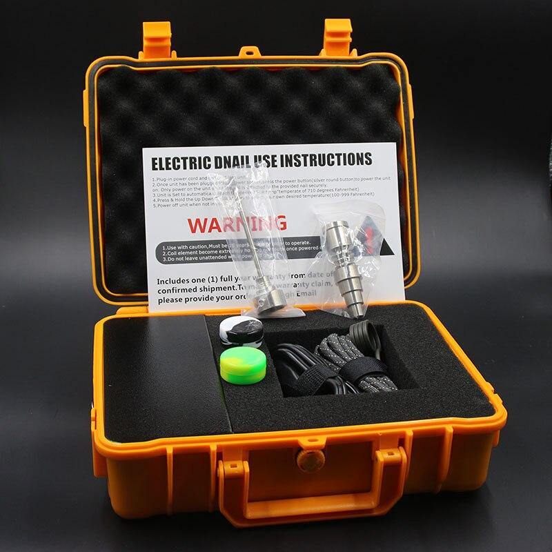 전기 네일 티타늄 네일 enail 키트 물 파이프 코일 히터 enails 10mm/16mm/20mm 블랙 오렌지 케이스 봉 유리 bongs-에서담배 파이프 & 액세서리부터 홈 & 가든 의  그룹 1