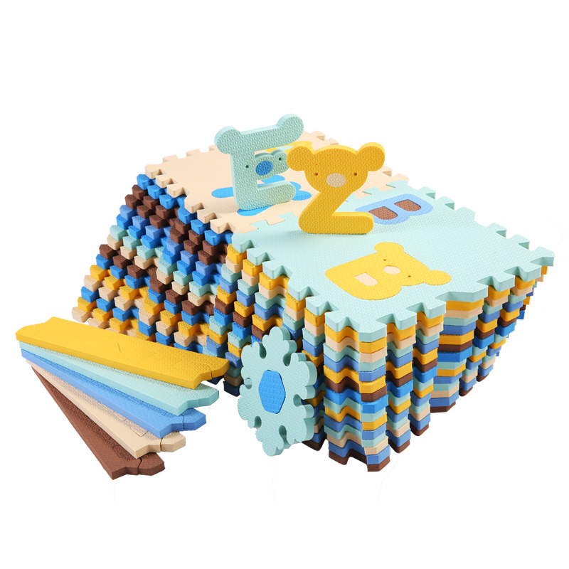 Cute Letter EVA Foam Baby Toy Puzzle Play Mat Interlocking Game Exercise Gym Tile Floor Pad Child Kid 30x30x1.3cm 30Pcs+22Border funny fishing game family child interactive fun desktop toy