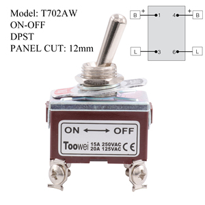 Image 5 - TOOWEI SPST DPDT DPST SPDT Toggle Switch ON ON ON OFF ON ON OFF AC Power Rocker Switch AC 250V 15A 125V 20A