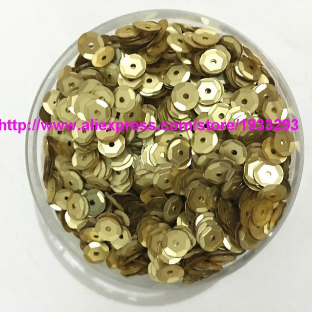 4000pcs(50g) 6mm Matt Golden Cup Sequins Loose Sequin Paillette Sewing 1f301d8ccbfd