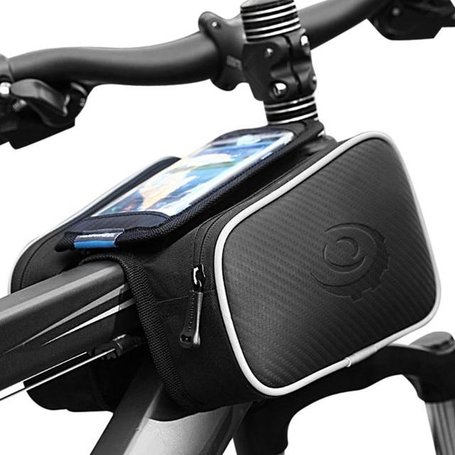 1.8L Roswheel Bicicleta Bag Ciclismo Frente Quadro Tubo de Cabeça Tela de Toque À Prova D' Água Alforje Duplo Bolsa para 4.8/5.5in telefone