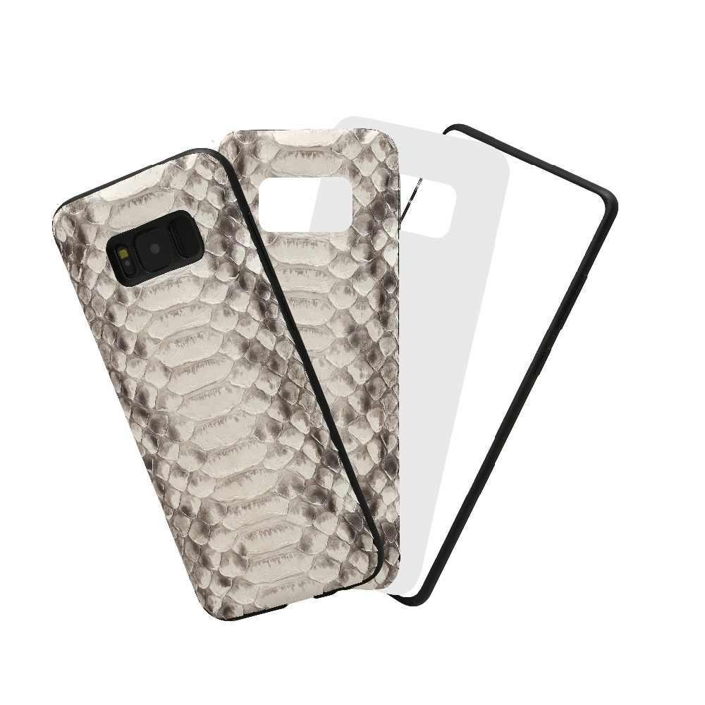 LANGSIDI מותג טלפון סלולרי מקרה טבעי פיתון עור כיסוי טלפון מקרה לסמסונג גלקסי S8 טלפון סלולרי כיסוי כל בעבודת יד מותאם אישית