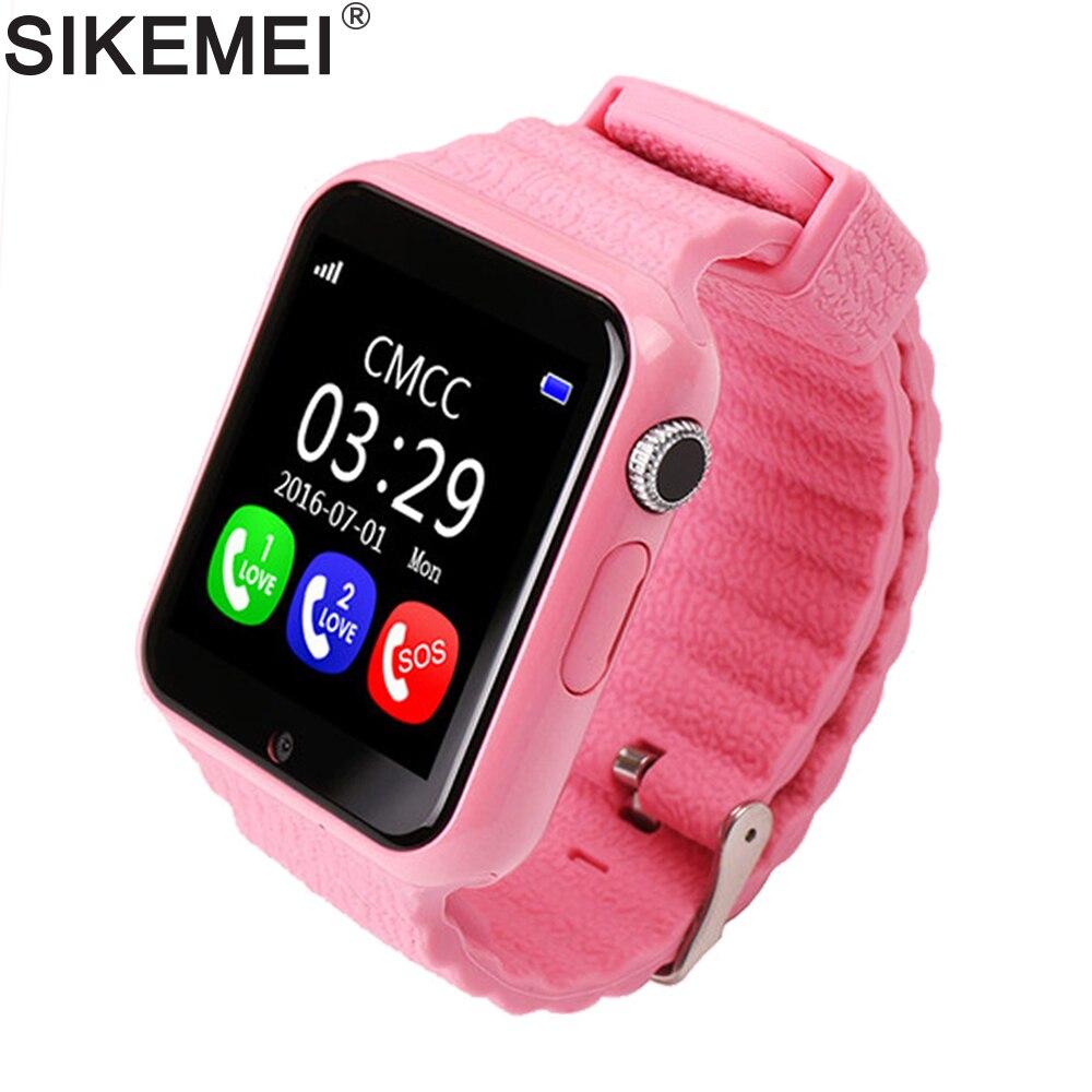 SIKEMEI enfants GPS montre intelligente montre sûre téléphone localisation localisateur Tracker caméra Anti-perte appel SOS étanche V7K pour Android iOS - 2