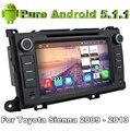4 Núcleos Quad Core 5.1.1 Puro Android Carro DVD Player Para Toyota Sienna 2009 2010 2011 2012 2013 com 2G ROM Rádio GPS