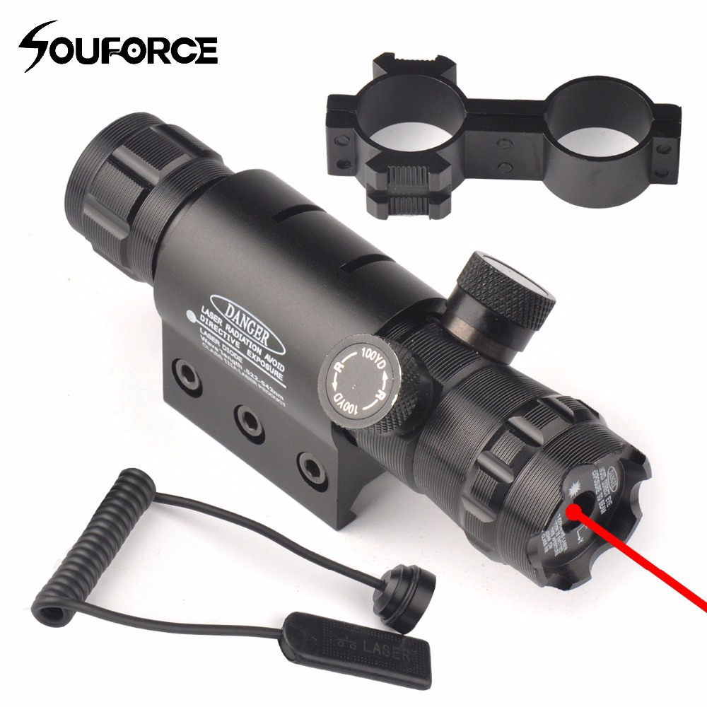 Tactical Upgrade Red Laser Gun Sight Scope With Mount Remote Pressure Switch For Airsoft Rifle 20mm Picatinny Rail