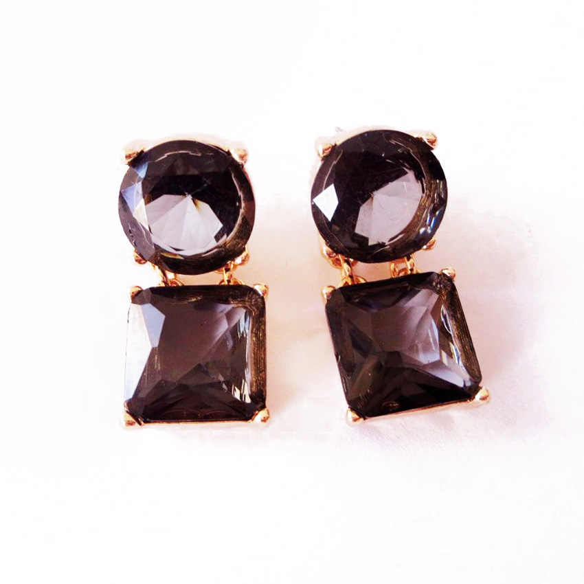 Free Shipping Wholesale New Square Round Earring Stud