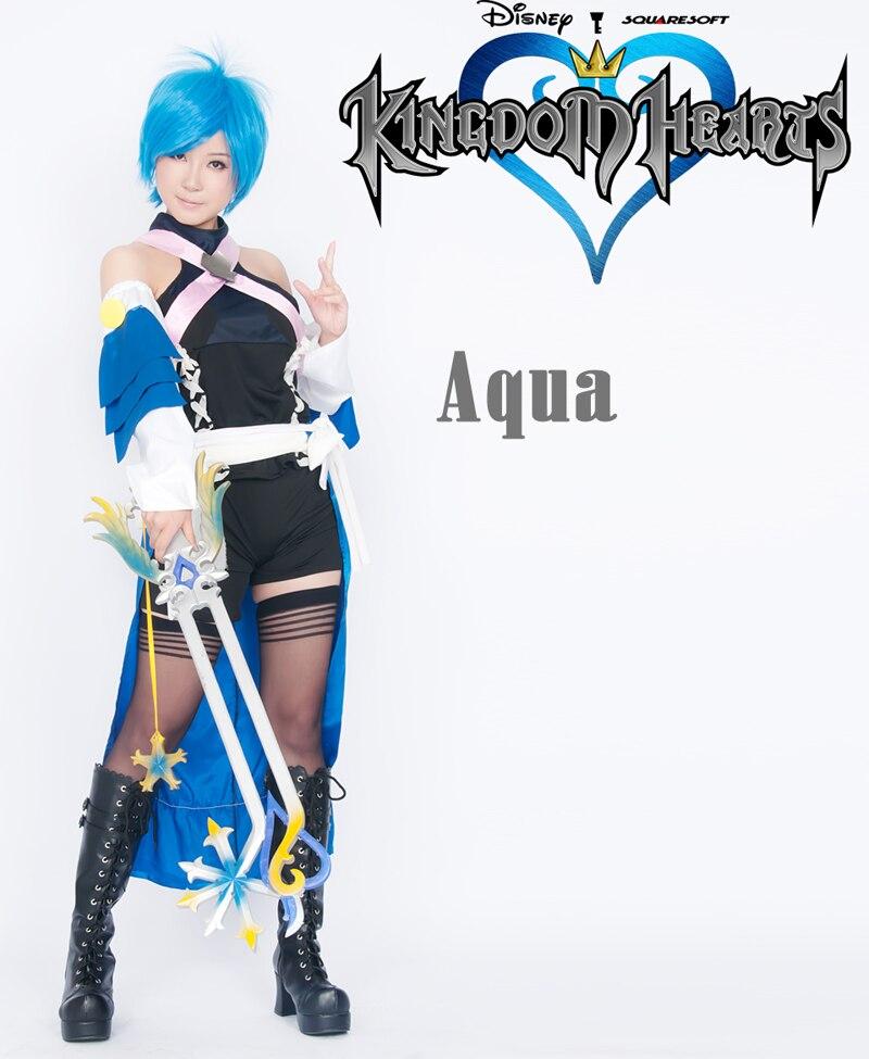 Kingdom Hearts Cosplay Birth By Sleep AQUA Costume nEW
