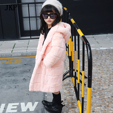 2017 Baby Winter Real Rex Rabbit Fur coat Children's Boys Girls Fur Coat Kids rabbit fur Coat jackets цены онлайн