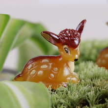 min order $10, Mini world landscaping decorative micro artificial mini Deer Fawn DIY accessories Crafts(China)