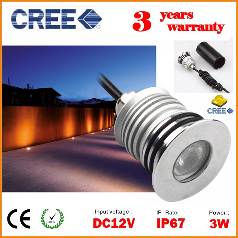 Exterior Mini Lighting: DHL Free CREE Mini LED Underground Lamp Outdoor Floor Spot