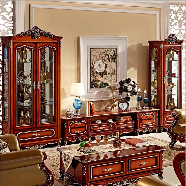 Tv Stands Living Room Furniture: Antique High Living Room Wooden Furniture Lcd TV Stand