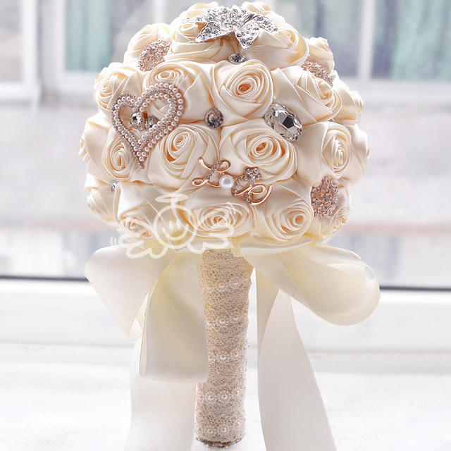 White Wedding Bouquets Online : Buy wholesale bouquet from china