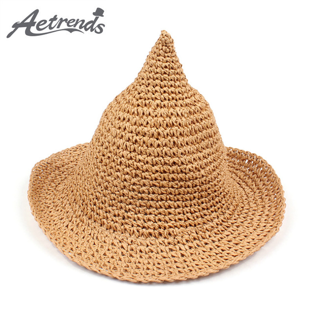AETRENDS  2018 New Spire Style Sun Hats for Kids 5~8 Years Old Hand ... 958bd6c158d