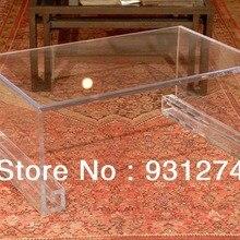 Прозрачный Акриловый lucite журнальный столик, плексигласа Мебель для гостиной