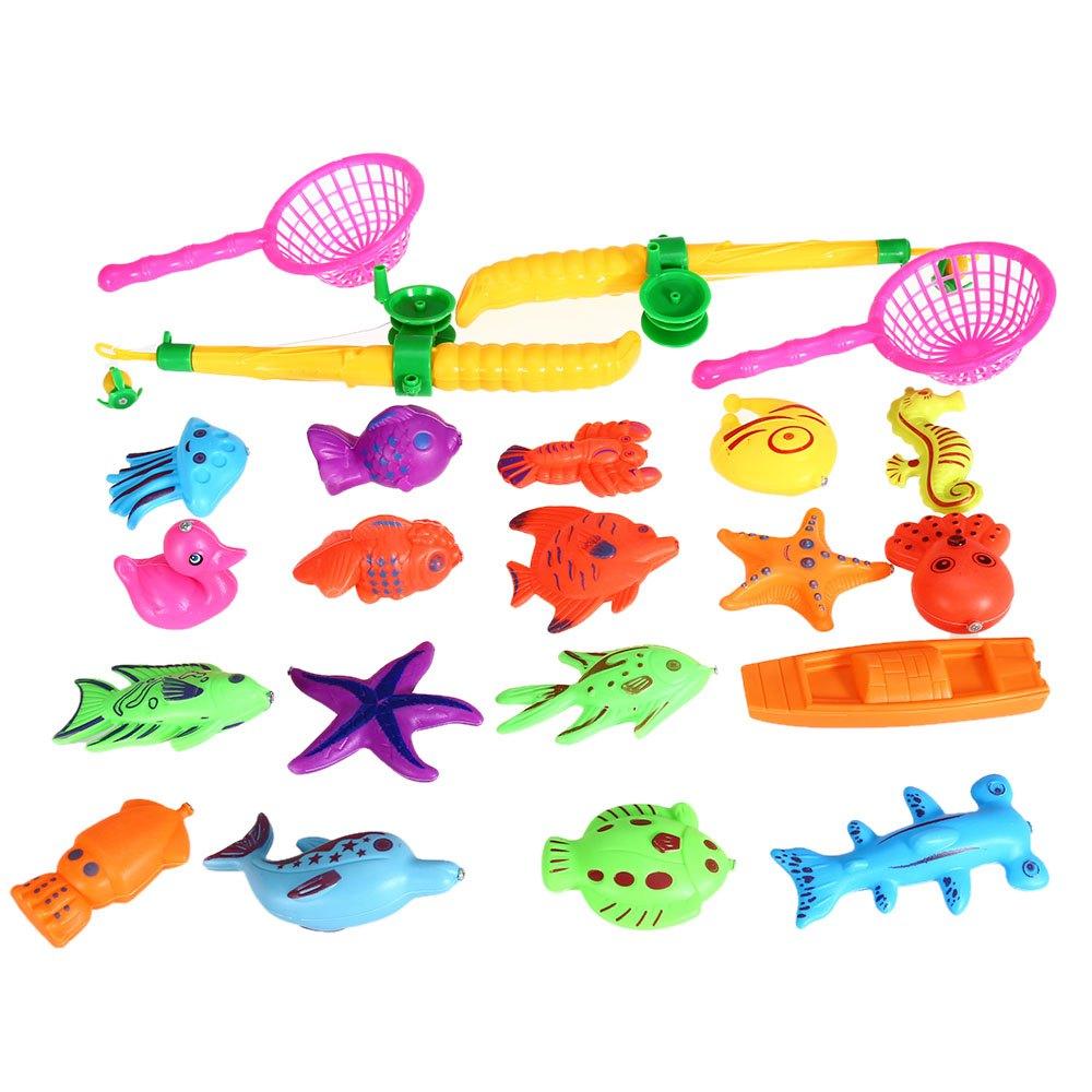Aliexpress.com : Buy 23Pcs Funny Fishing Toy Magnetic Fishing ...