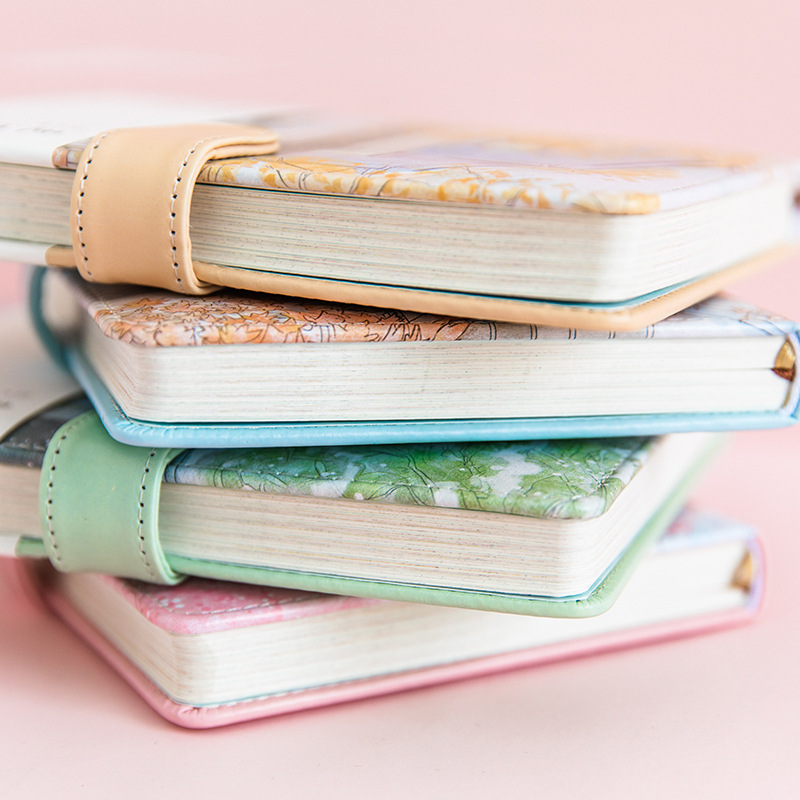 Clearance SaleSchool Diary Notebook Office-Supplies Agenda Hand-Painted Romance Files Blossom Illustration-Grid