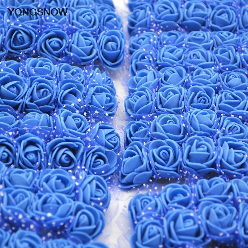 144 шт. мини розовыми цветами DIY ручной работы свадебные букет Искусственный цветок пены для домашнего Свадебный декор вечерние поставки