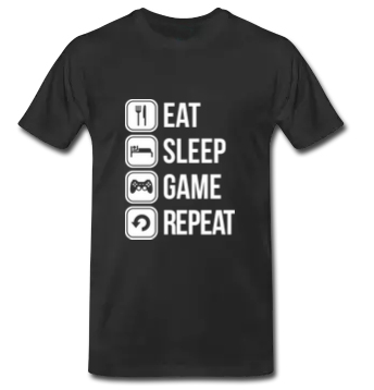 eat sleep game repeat couples lovers t shirt casual lovers men women s  fashion t shirt US standard size factory wholesale 70ab83e557d1