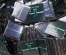 BUHESHUI Wholesale 0.6W 5.5V  Solar Cell Polycrystalline Solar Panel DIY Solar Toy Education Solar Charger 65*65*3MM 1000pcs