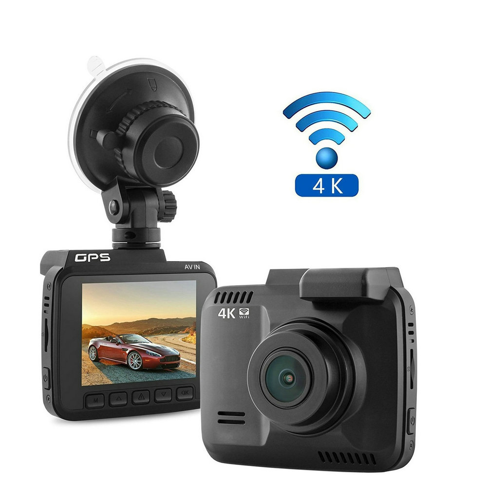 GS63H WiFi Car DVR Recorder Dash Camera 2.4 Screen Novatek 96660 Built in GPS Camcorder 4K 2880x2160P Night Vision G-sensor xycing gs63h wifi car dvr novatek 96660 car camera gps tracker 4k ultra hd 2160p night vision dash cam 150 degree angle lens