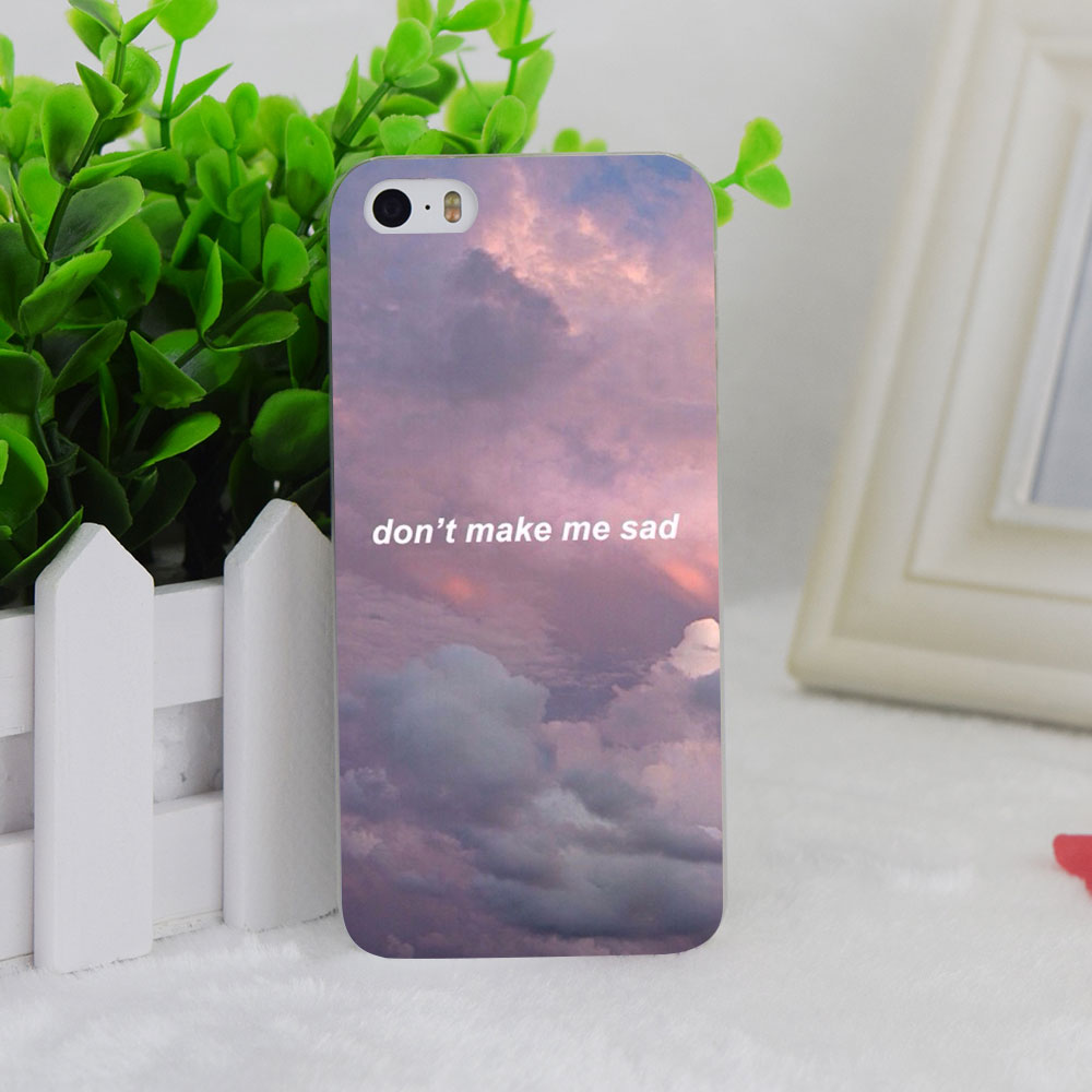 A1625 Aesthetic Clouds Cotton Transparent Hard Thin Case ...