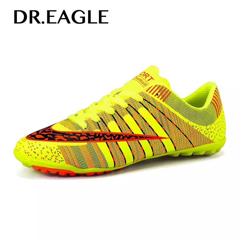 DREAGLE Indoor Turf Cheap Soccer Shoe Crampons Boys Children Boots Centipede Football Training Shoes For Man Sport Sneaker