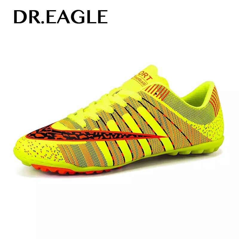 DREAGLE Indoor Turf Cheap Soccer Shoe Crampons Boys Children Boots Cen