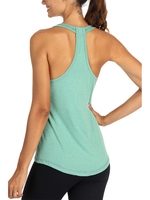 Gym Tops Womens Summer Workout Vest Sexy Backless Yoga Shirts Racerback Ultra Soft Fabric Running Sports Quick Dry Tank Tops