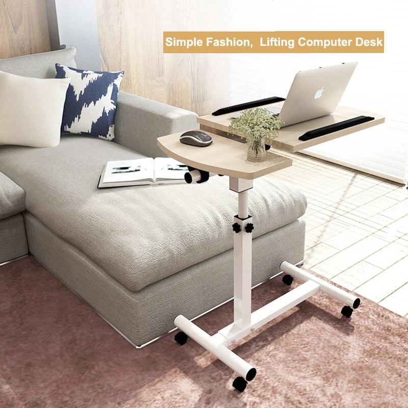 Amovible réglable ordinateur portable Table Stand recouvrement canapé lit plateau ordinateur portable bureau pliant maison bureau meubles 64x40 cm