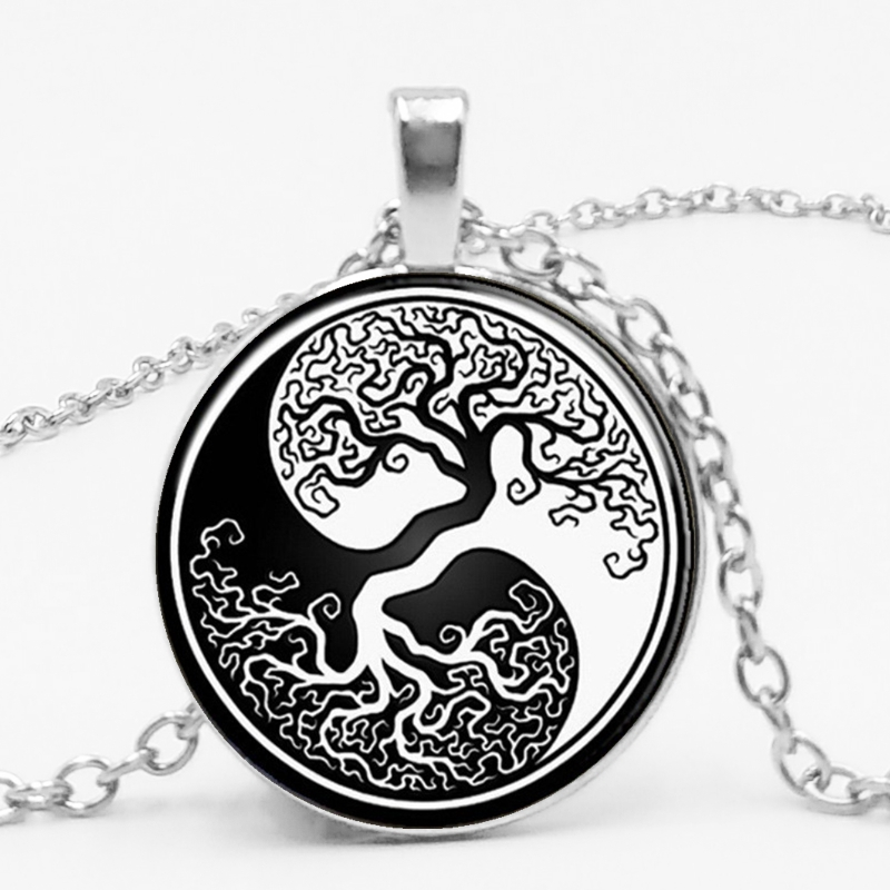 New Retro Beautiful Alloy Black and White Yin and Yang Life …