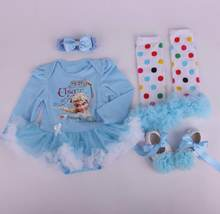 Free Shipping 6sets lot Newborn Infant Toddler Baby Girl s 4 piece Clothing Set Romper Dress
