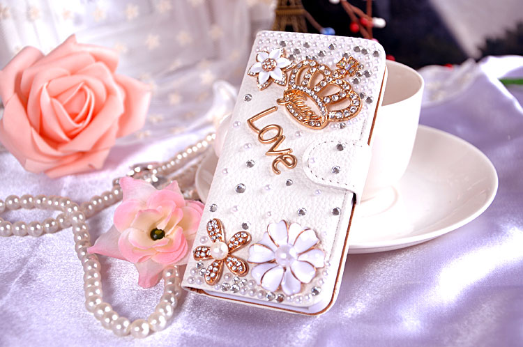 Hot New Rhinestone PU Leather For Apple iPhone 7 Plus phone Case Stand Wallet Card Slot shockproof protection Cover