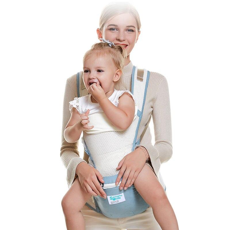 Saiyingmei porte-bébé ergonomique respirant porte-bébé kangourou attache kangourou pour bébé fronde bébé taille tabouret 0-3 ans