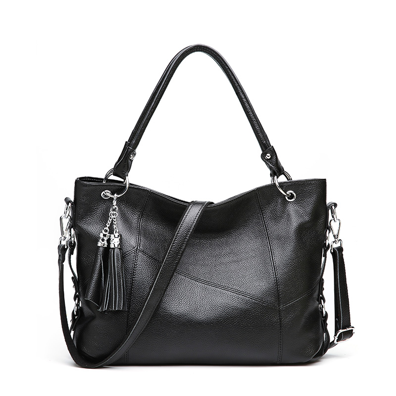 Fashion Women Tote Bags Genuine Leather Handbags Female First Layer Of Cowhide Charm Messenger Crossbody Purse