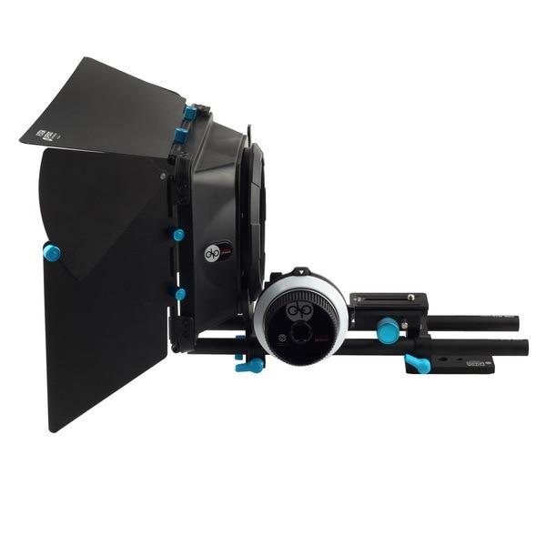 Fotga DP3000 QR follow focus for DSLR + 15mm rod rail baseplate + M1 matte box fotga dp500iis quick release qr baseplate rail system rod for follow focus dslr