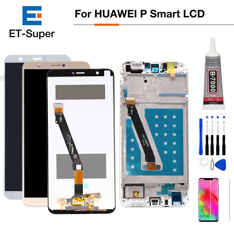 Pour Huawei P Smart LCD affichage écran tactile numériseur assemblée P Smart LCD avec cadre FIG LX1 L21 L22 remplacement d'écran + cadeau