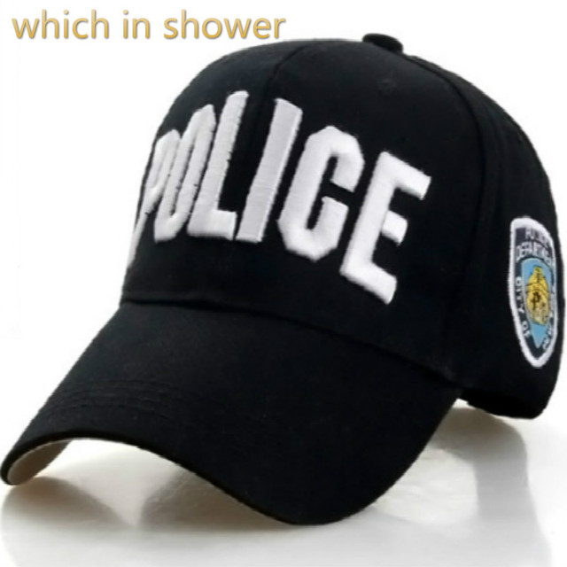 which in shower embroidery POLICE dad hat adjustable army baseball cap 2018  fashion bone cap women men s snapback hat casquette 167b85fff329