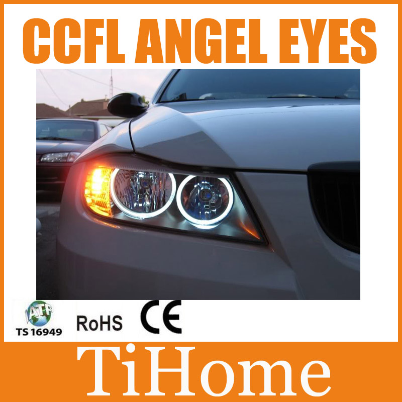 Free Shipping CCFL ANGEL EYES FOR BMW E90,E90 NON PROJECTOR HALO RING,E90 CCFL ANGELEYES LIGHTS все цены