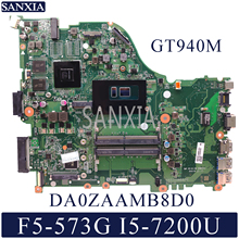 KEFU DA0ZAAMB8D0 Laptop motherboard for Acer Aspire F5-573G Test original mainboard I5-7200U GT940M
