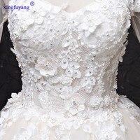 Vestidos de Noiva de Luxo 2017 Real Photo Wedding Dress Princesa real Vestidos de Noiva 2017 Bead Lantejoulas Long Train vestido de Noiva vestidos