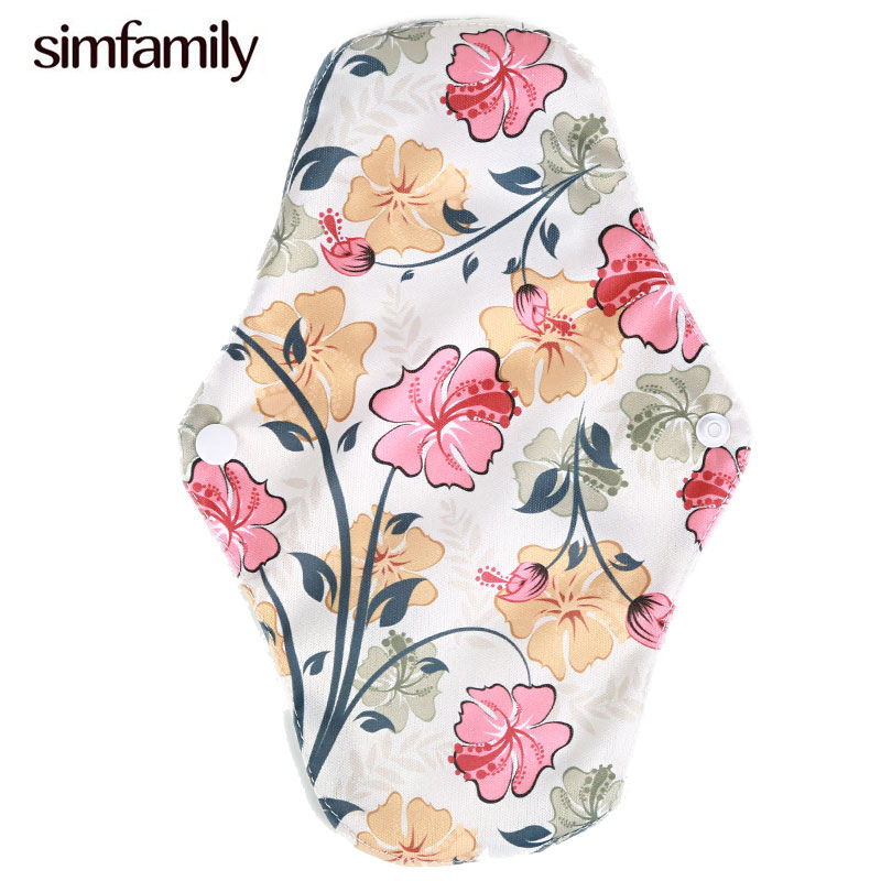 [simfamily]10Pcs Reusable Waterproof Regular Flow Menstral Mama Cloth Pads Bamboo Charcoal Inside, Wholesale Selling