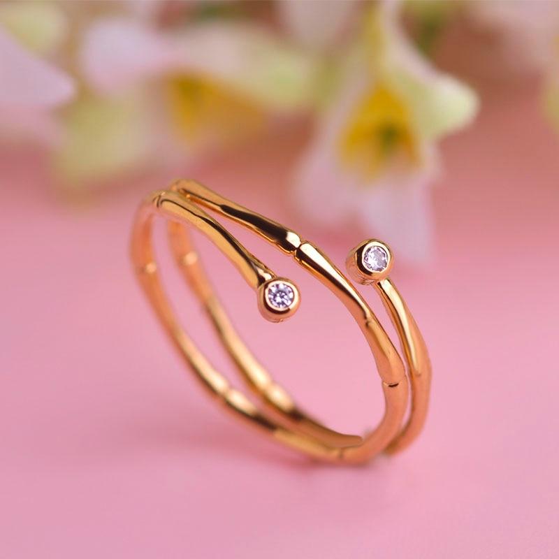 MECHOSEN Fashion AAAAA Zircon Thin Rings Quality Trust Worthy Copper Anneaux Jewelry Simple Noble Tail Rings Women bague homme