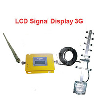 W Yagi Antenna 10M Cable LCD Display Function Model 980 3G Booster Repeater WCDMA Booster Repeater