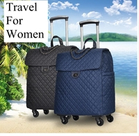 Luggage bag portable travel Trolley Bags on wheels rolling luggage woman Handbags Trolley Suitcase Carry on bags travel backpack
